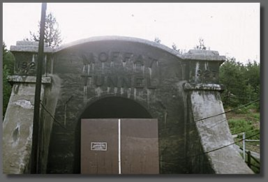 eastern entrance to Moffat Tunnel